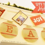 The Holidays At Home – Ornament Holiday Burlap Banner