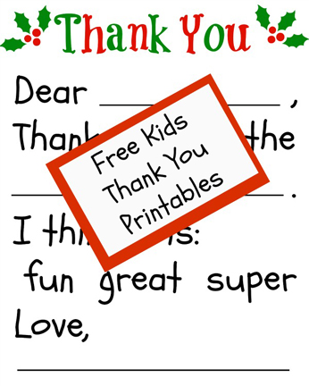 Holidays - Kids thank-you-note