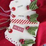 The Holidays At Home – Handmade Holiday Gift Tags {sweater embellished!}