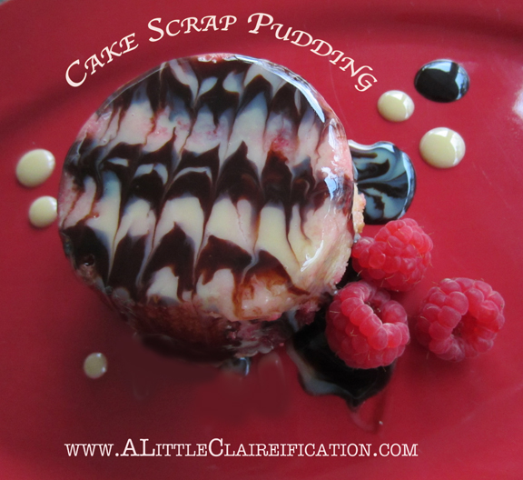 Cake Scraps Pudding with A Little Claireification.com #cakescraps #baking #foodie
