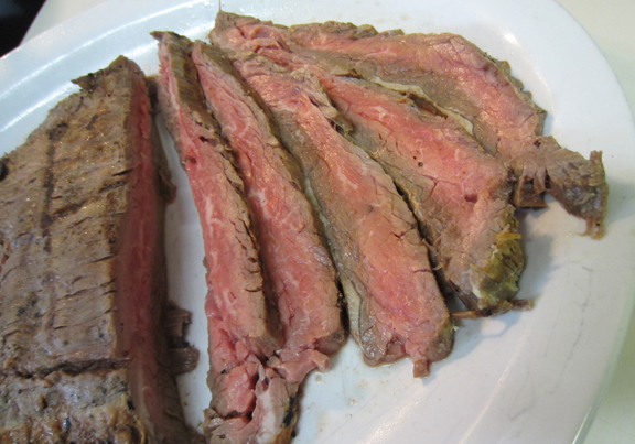 Superbowl Snack Flank Steak Bites Recipe with ALittleClaireification.com #superbowl #food #recipe