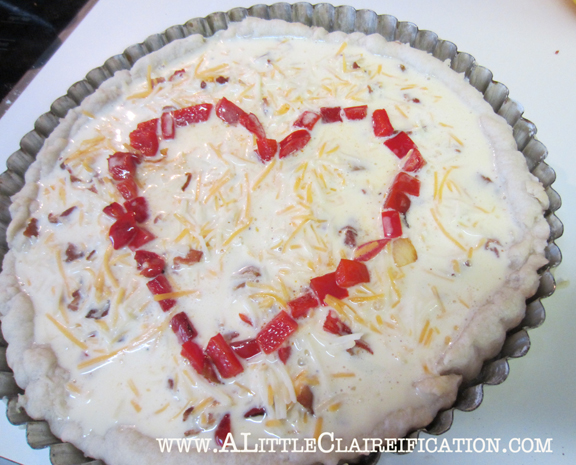 Red Pepper & Bacon Tart with ALittleClaireification.com #redpeppertart #recipe #food