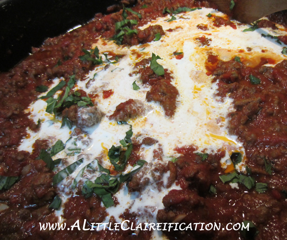 Easy Bolognese Recipe with ALittleClaireification.com #recipes #foodie #italianfood