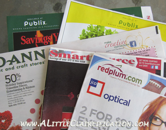 Managing Our Time Better Series at ALittleClaireification.com #timemanagement #coupons #organiztion #coupining