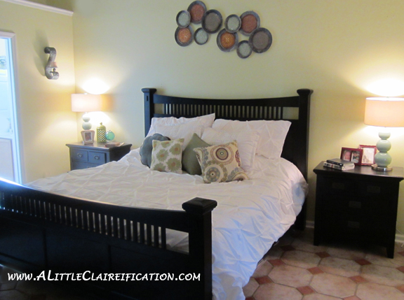 A Clean Master Bedroom with ALittleClaireification.com #organization #masterbedroom #makeover