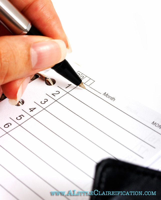 Writing In Planner stock photo -2Managing Our Time Better with ALittleClaireification.com #timemanagement #organization #familytime