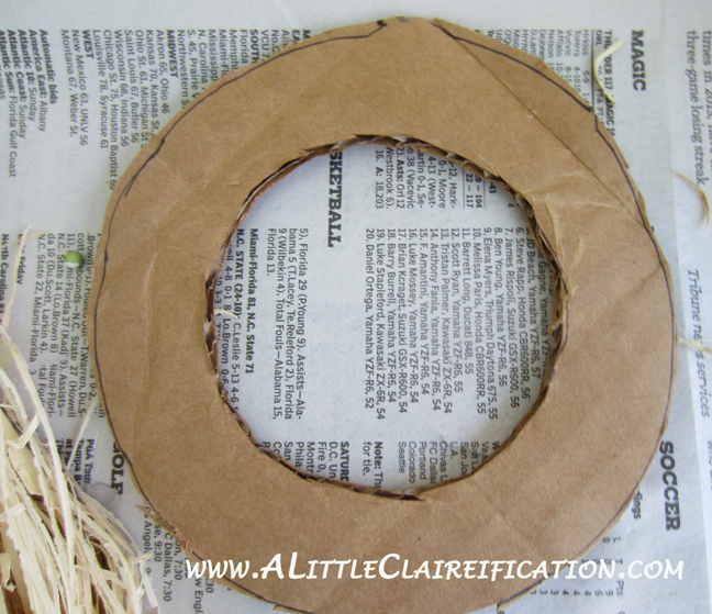 Easter Wreath with ALittleClaireification.com #crafts #DIY #Easter