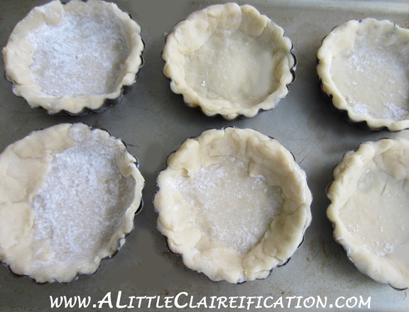 French Lemon Tarts with ALittleClaireification.com #recipe #Easter