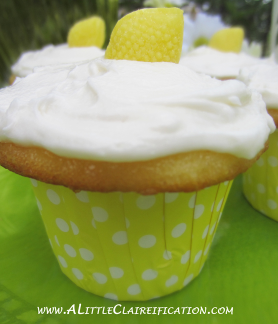Lemonade Cupcakes with A Little Claireification.com #cupcakes #recipes #desserts @alittleclaire