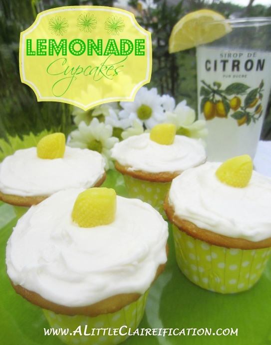 Easy Lemonade Cupcakes with A Little Claireification.com #cupcakes #recipes #desserts @alittleclaire