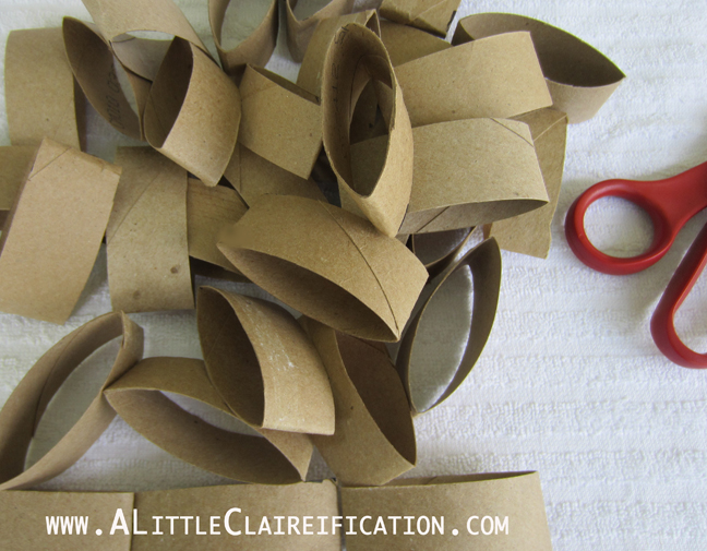 Toilet Paper Roll Art w/ ALittleClaireification.com #crafts #DIY #Art