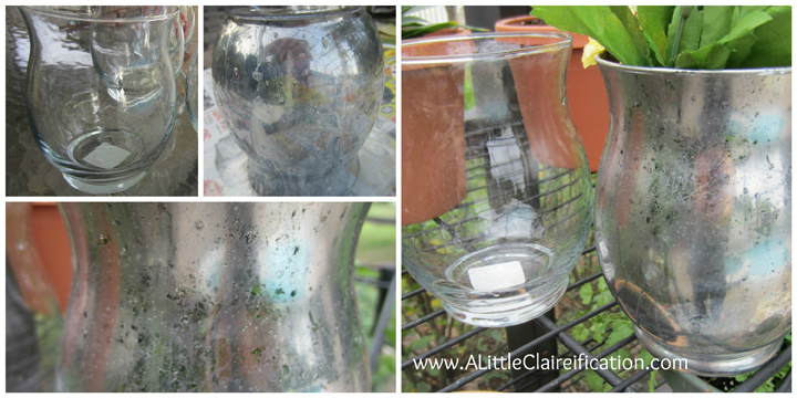 DIY Mercury Glass with ALittleClaireification.com #DIY #MercuryGlass #ModPodge