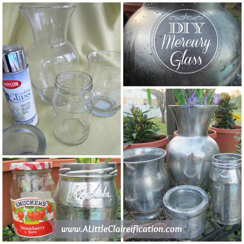 DIY Mercury Glass with ALittleClaireification.com #DIY #MercuryGlass @ALittleClaire