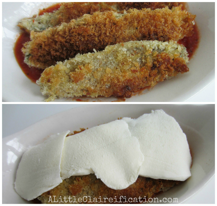 Crispy Eggplant Parmesan Recipe at ALittleClaireification.com #recipes #gardening