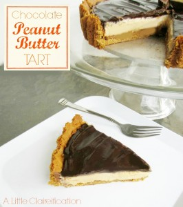 Peanut Butter Choclate Tart Recipe at ALittleClaireification