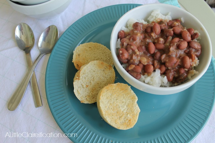 Red Beans and Rice Recipe with ALittleClaireification.com #recipes #foodie