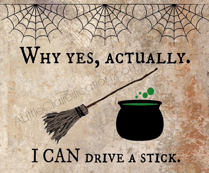 Super fun Free Halloween Printables!  Can you drive a stick?? :)