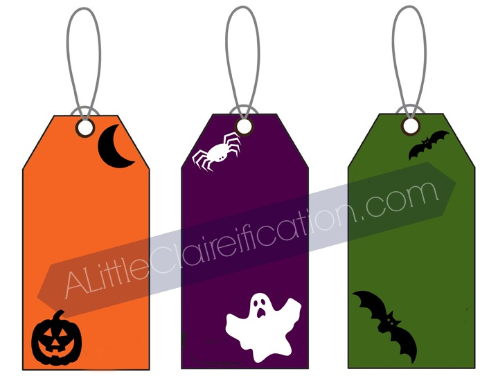 Halloween Gift Tag Printables - perfect for little treat bags and party favors!