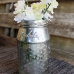 Stenciled Jelly Jar