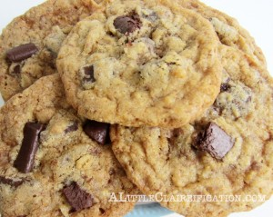 The Best Toffee Chocolate Chunk Cookies Ever