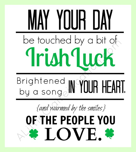 Free St. Patrick's Day Printable at ALittleClaireification.com #Free #Printables