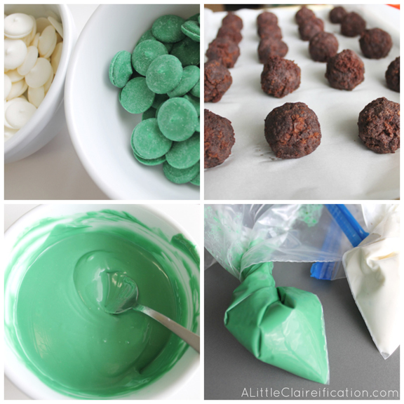 Baileys Irish Cream Chocolate Truffles - A Perfect St. Patrick's Day Dessert at ALittleClaireification.com #recipe #StPatricks #Desserts