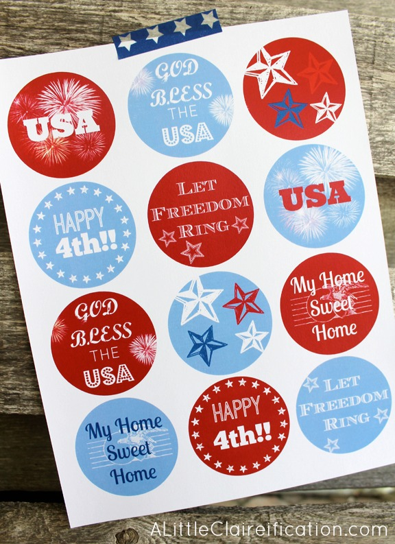 4th of July Hangtags Free Printables