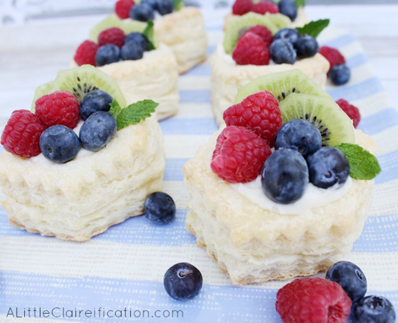 Easy Fruit Tartlets Recipe - A perfect recipe for a last minute brunch or gathering!  at ALittleClaireification.com #recipe #dessert