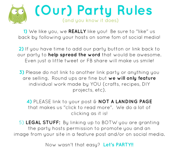 BOTW Party Rules 2014