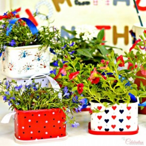 DIY 4th Of July Flower Favors by Little Miss Celebration