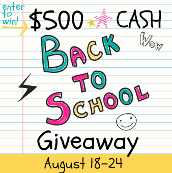 Back To School Giveaway at ALittleCLAIREification.com