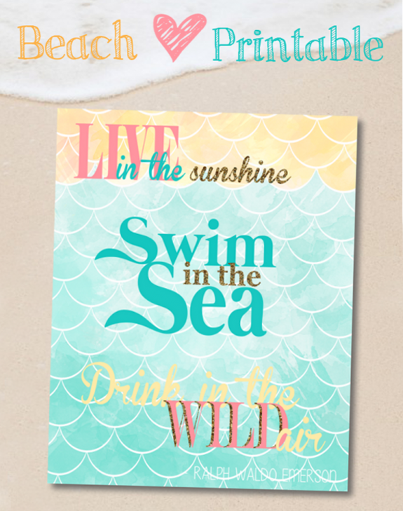 Beach Love Free Printable - One Of My Favorite Quotes Ever