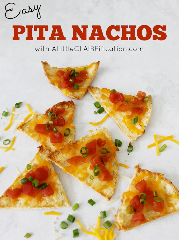 Easy Pita Nachos - Back To School Snacks w/ ALittleCLAIREification.com