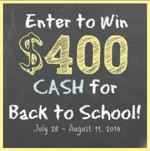 $400 Cash back-to-school-giveaway