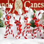Candy Cane Chenille Reindeer | Little Miss Celebration