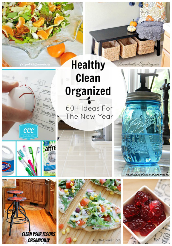 All Things Healthy Clean and Organized - 60+ Inspiring Ideas, Recipes and Tutorials for the New Year