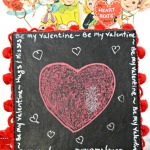 DIY Valentine Chalkboard Message Box | Little Miss Celebration