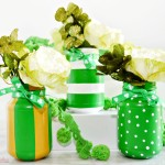 Lucky Green Painted Jars | St. Patrick's Day Crafts