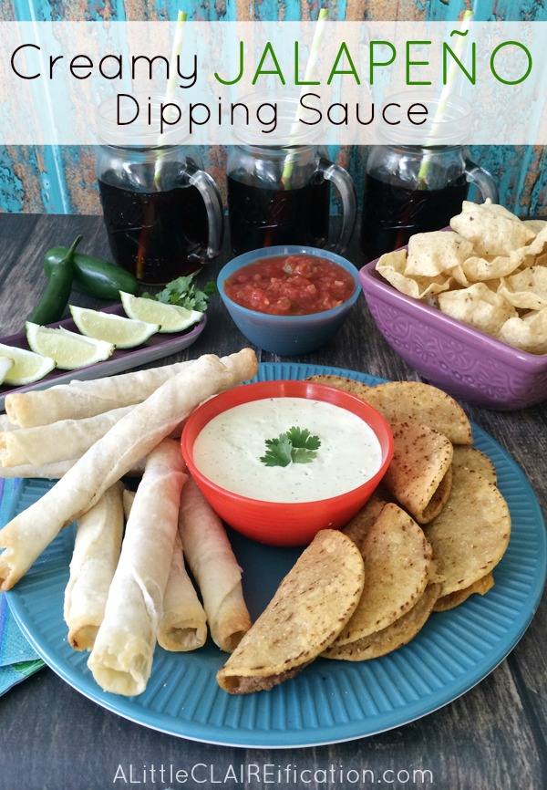 Creamy Jalapeño Dip - Possibly the Creamy Jalapeño Dip (Chuy's Copycat Recipe)  -  Possibly the perfect Cinco De Mayo Party Food Cinco De Mayo Party Food