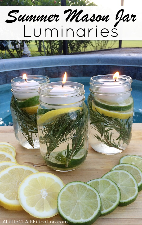 Diy Mason Jar Luminaries And Natural Bug Repellent The