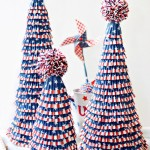 Red White & Blue Cupcake Liner Trees