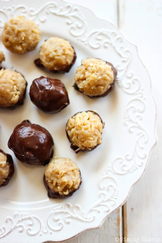 Dipped Chocolate Coconut Balls | A Simply Gloria Recipe - A Little ...