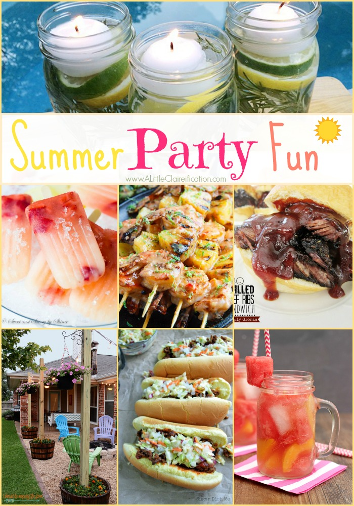 Summer Party Ideas - 25 fabulous ideas for your next Summer Party! Decor, Recipes, Cocktails & more!