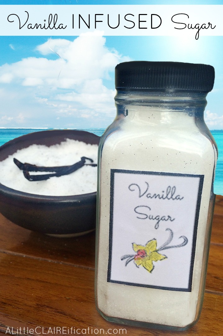 Infused Vanilla Bean Sugar  | Gifts In A Jar