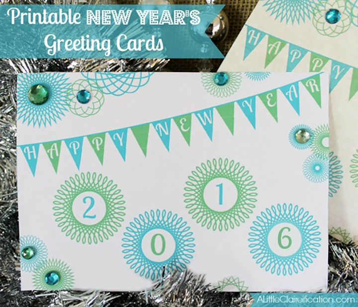 Free Printable New Years Greeting Cards
