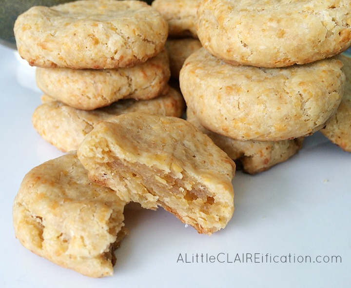 Savory Cheddar Shortbread Cookies