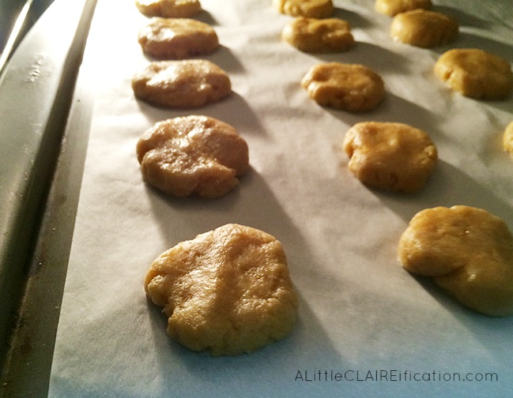 Savory Cheddar Shortbread Cookies Baking