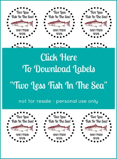 Two Less Fish - Fishing Themed Wedding Favor Labels Download
