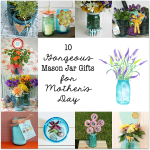 Mother's Day Flower Centerpiece | Blue Ball Jar Giveaway