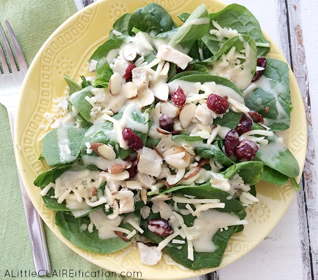 Spinach Pow elevAte Salad - super foods